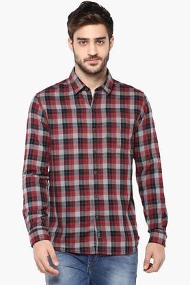 Numero Uno Formal Shirts (Men's) - Mens Slim Fit Check Shirt