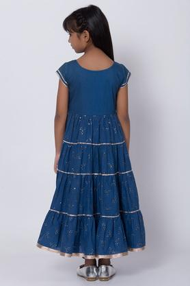 BIBA GIRLS - Blue Salwar Kurta Set - 1
