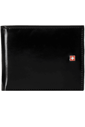 SWISS MILITARY Black Men's Wallet (LW-22)