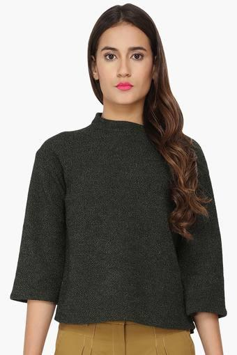 Womens Basic High Neck Top