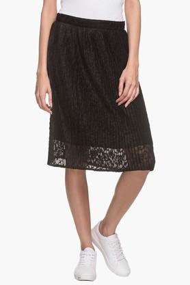 FRATINI WOMAN Womens Lace Knee Length Skirt