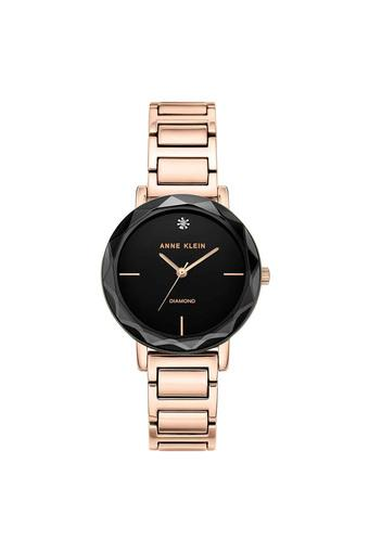 Womens Black Dial Stainless Steel Analogue Watch - AK3278BKRG