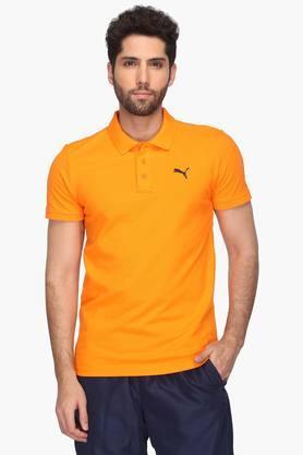 PUMAMens Solid Polo T-Shirt - 202132777_9508