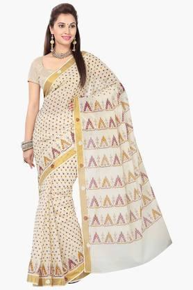 ISHIN Womens Cotton Printed Saree