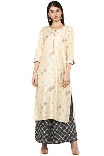 KASHISH -  Off White Kurtas - Main