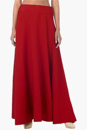 INDYA Womens Solid Long Skirt - 202498117_9607