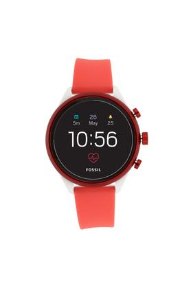Womens Sport Black Dial Silicon Smart Watch - FTW6027