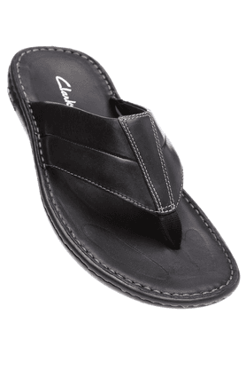 CLARKS Mens Black Sandal