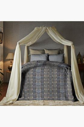 Cotton King XL Digital Printed Bedsheet With Pillow Cover - 202448883