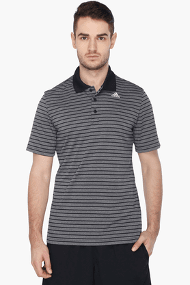 ADIDAS Mens Short Sleeves Stripe Polo T-Shirt - 201241297