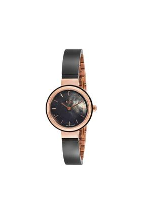 Womens Black Dial Metallic Analogue Watch - 45014KD01E