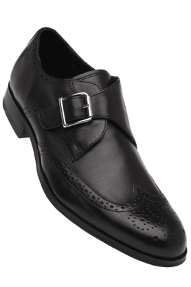 RUOSH Mens Black Leather Smart Formal Shoe