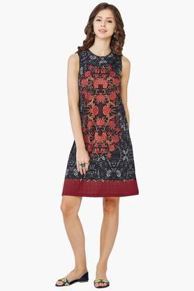 Womens Casual Printed Shift Dress