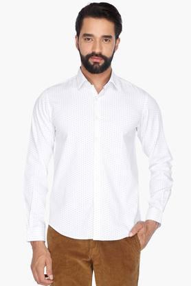 Wilsty Formal Shirts (Men's) - Mens Full Sleeves Casual Printed Shirt