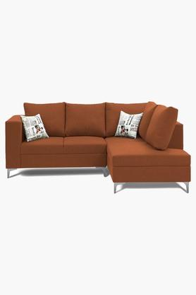 Pumpkin Orange Water Repellent Fabric Sofa (2 Seater - 1 Lounger)
