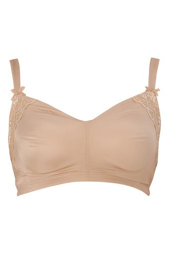 Womens Solid Non Padded Non Wired Full Coverage Bra