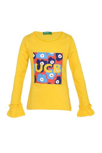 UNITED COLORS OF BENETTON -  Yellow Topwear - Main