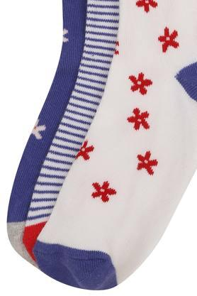 Girls Printed and Stripe Knitted Socks Pack of 3