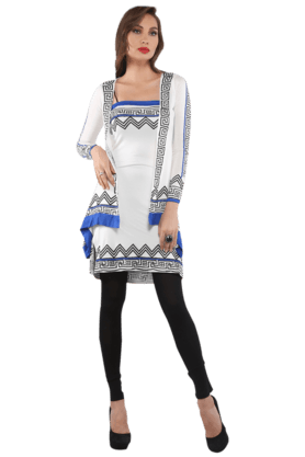 IRA SOLEIL Womens Printed Kurta And Shrug Set