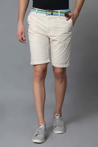 INDIAN TERRAIN -  Ecru Shorts - Main