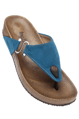 INC.5 Womens Blue Toned Slipon Flat Sandal