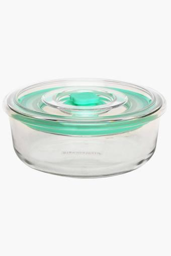 Round Food Container with Release Knob - 300 ml