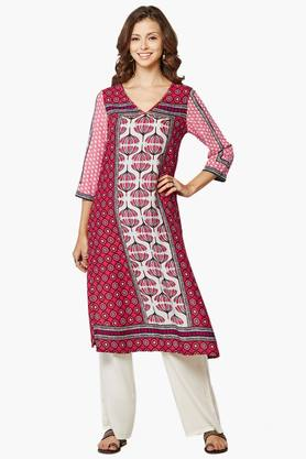 GLOBAL DESI Womens Floral Print Kurta - 201900445