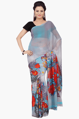 JASHN Womens Printed Saree With Blouse Piece - 201313147