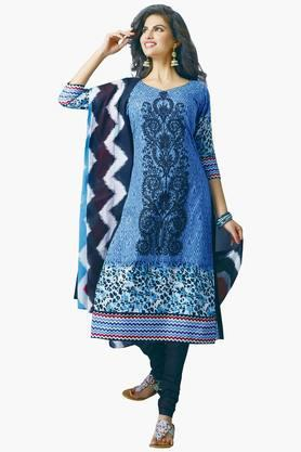 Women Cotton Printed Unstitched Salwar Suit Dress Material