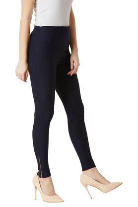 Womens Skinny Fit High Rise Solid Jeggings