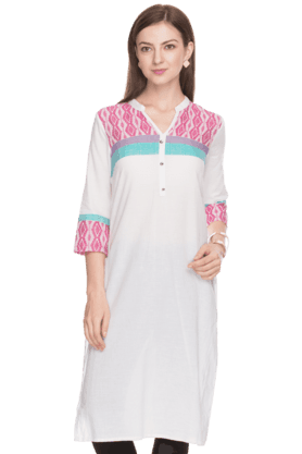 AURELIA Women Slim Fit Printed Kurta - 200758841