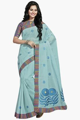 Womens Blended Cotton Saree