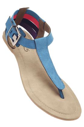 INC.5Womens Blue High Fashion Flat Sandal