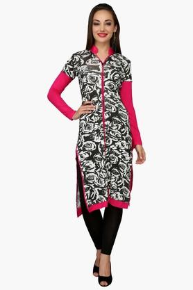 IRA SOLEILWomens Slim Fit Printed Kurta (Buy Any Ira Soleil Product And Get A Necklace Free) - 201787558