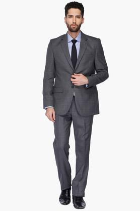 Mens Notched Lapel Check Suit