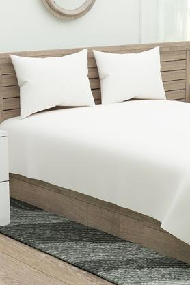 Supercale Solid Double Bed Sheet with 2 Pillow Covers