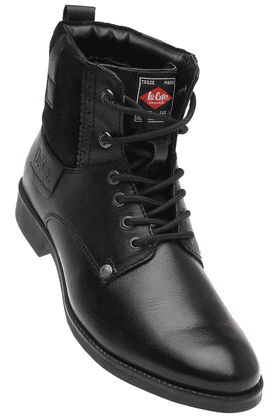 LEE COOPER Mens Black Leather Boot