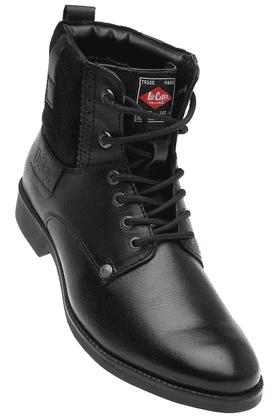 LEE COOPERMens Black Leather Boot