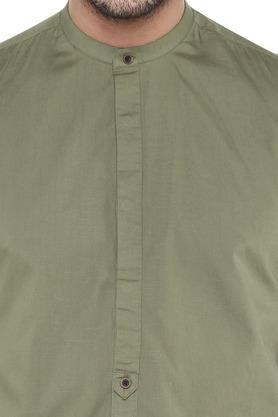 FRATINI - OliveCasual Shirts - 4