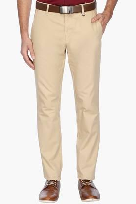 LOUIS PHILIPPE SPORTS Mens 4 Pocket Solid Chinos - 201758268