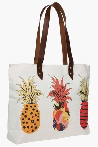 Square Pineapple Print Shopping Bag