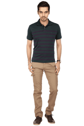 Mens 7 Pocket Slim Fit Solid Cargos