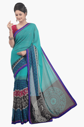 JASHN Womens Printed Saree - 201502537
