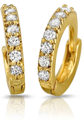 MAHIMahi Gold Plated Immortal Beauty Earrings With Crystals For Women ER1102049G
