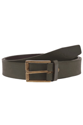 VAN HEUSEN Mens Olive Leather Belt