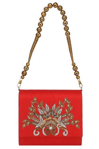 KASHISH -  Red Wallets & Clutches - Main
