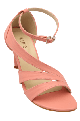 LIFE Womens Casual Ankle Buckle Closure Heel Sandal (Use Code FB15 To Get 15% Off On Purchase Of Rs.1200) - 200835036