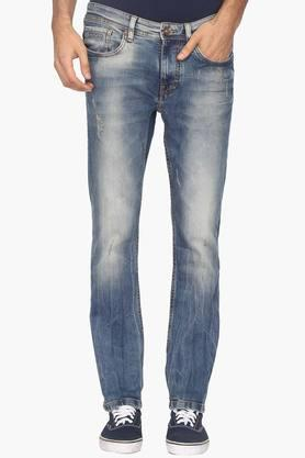 BEING HUMANMens 5 Pocket Skinny Fit Heavy Wash Jeans