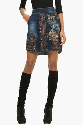 DESIGUAL Womens Assorted Embellished Mini Skirt