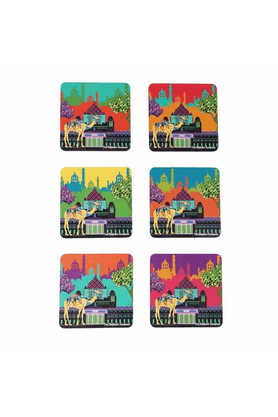 THE ELEPHANT COMPANY MDF Coaster - Indian Caravan Serai (Set Of 6)